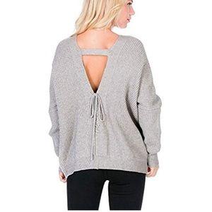 Paper crane back detail sweater